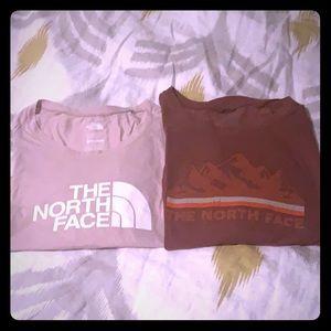 NorthFace long sleeve T-shirt bundle.